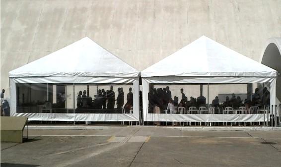 Tenda Piramidal Fechada Serviços na Vila Mariana - Aluguel de Tenda Piramidal