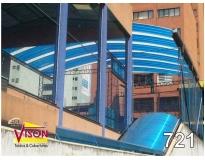 cobertura de policarbonato para escada em Carapicuíba