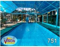 cobertura em policarbonato para piscina na Arco-íris
