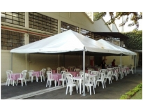 onde encontrar aluguel de tendas para eventos no Várzea do Palácio