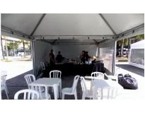 onde encontrar locação de tendas para festas no Jardim Aracília