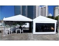tenda para eventos na Ponte Grande