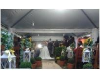 tendas para festa de casamento serviços em Santana