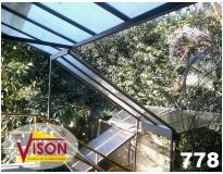 toldos e coberturas para escadas na Cabuçu de Cima